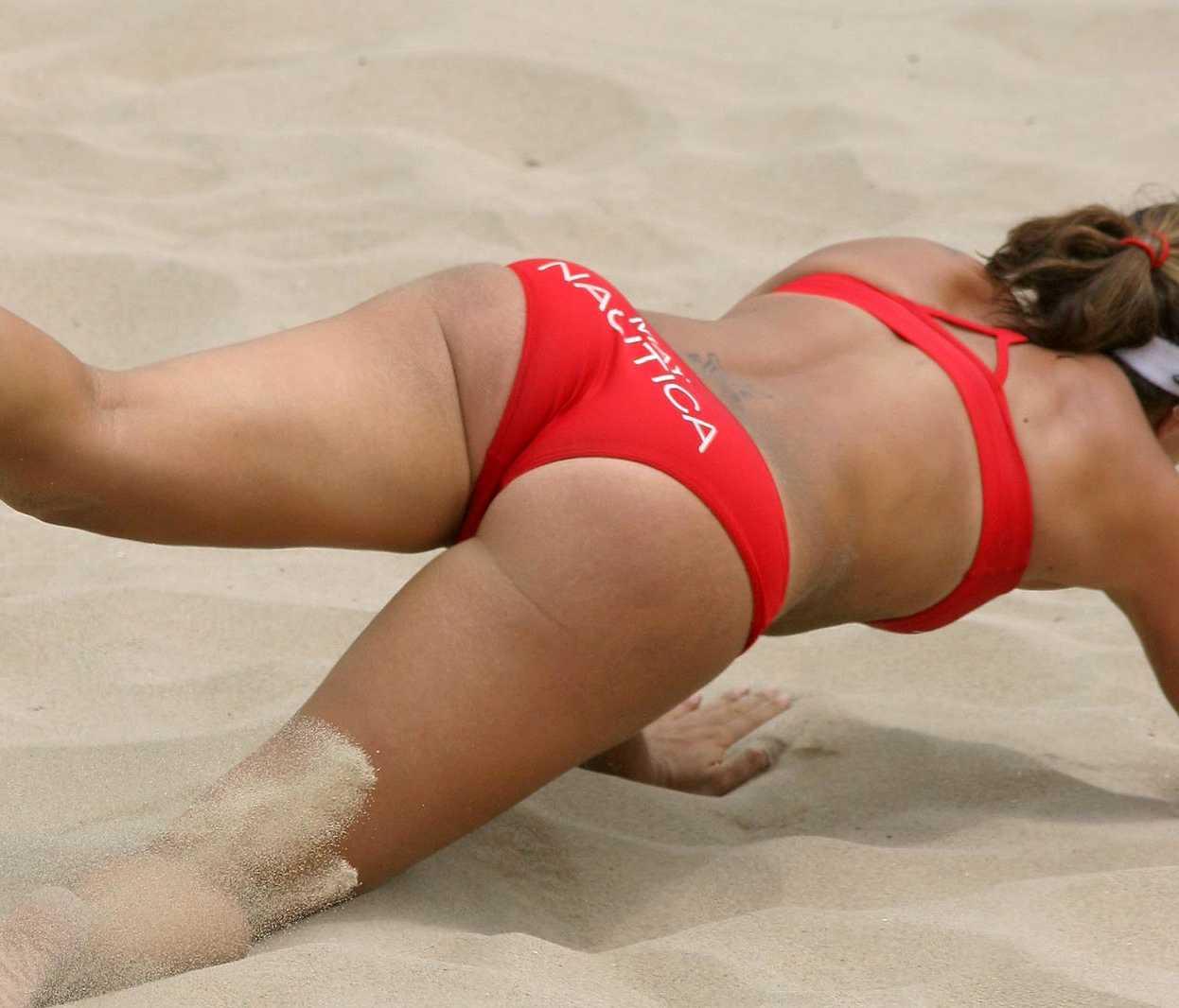 Beach volleyball misty may butt