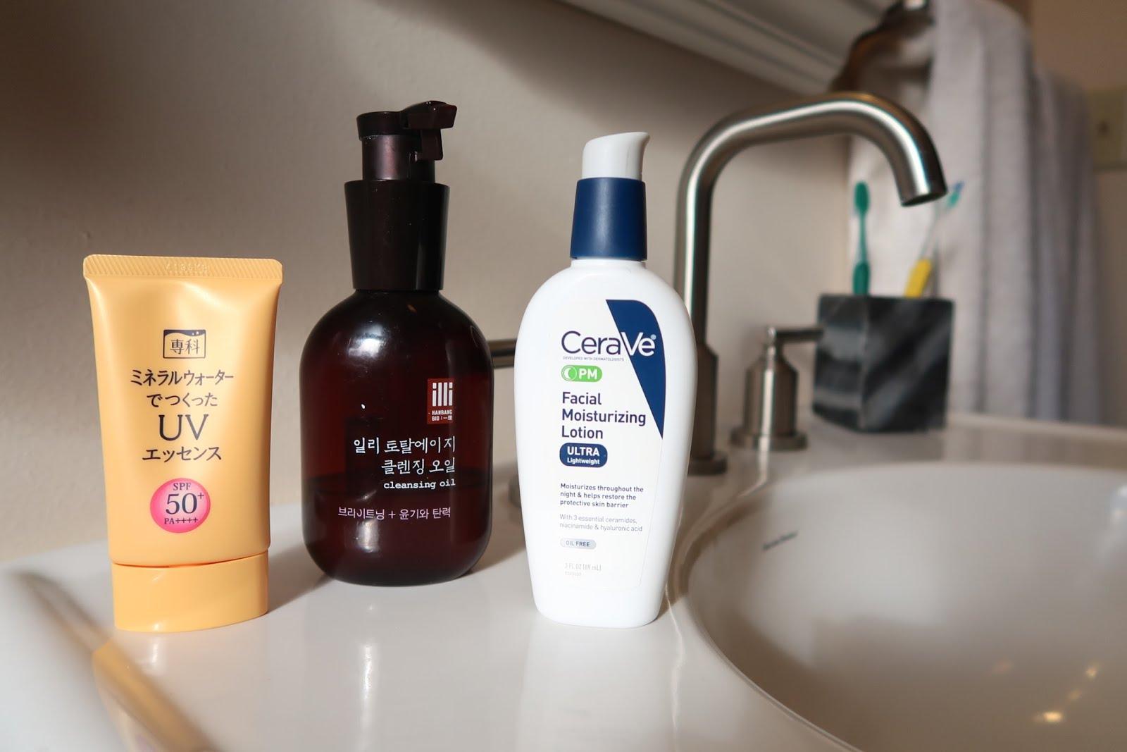 korean skincare beauty cleanser oil first sunscreen sunblock sink white moisturizer