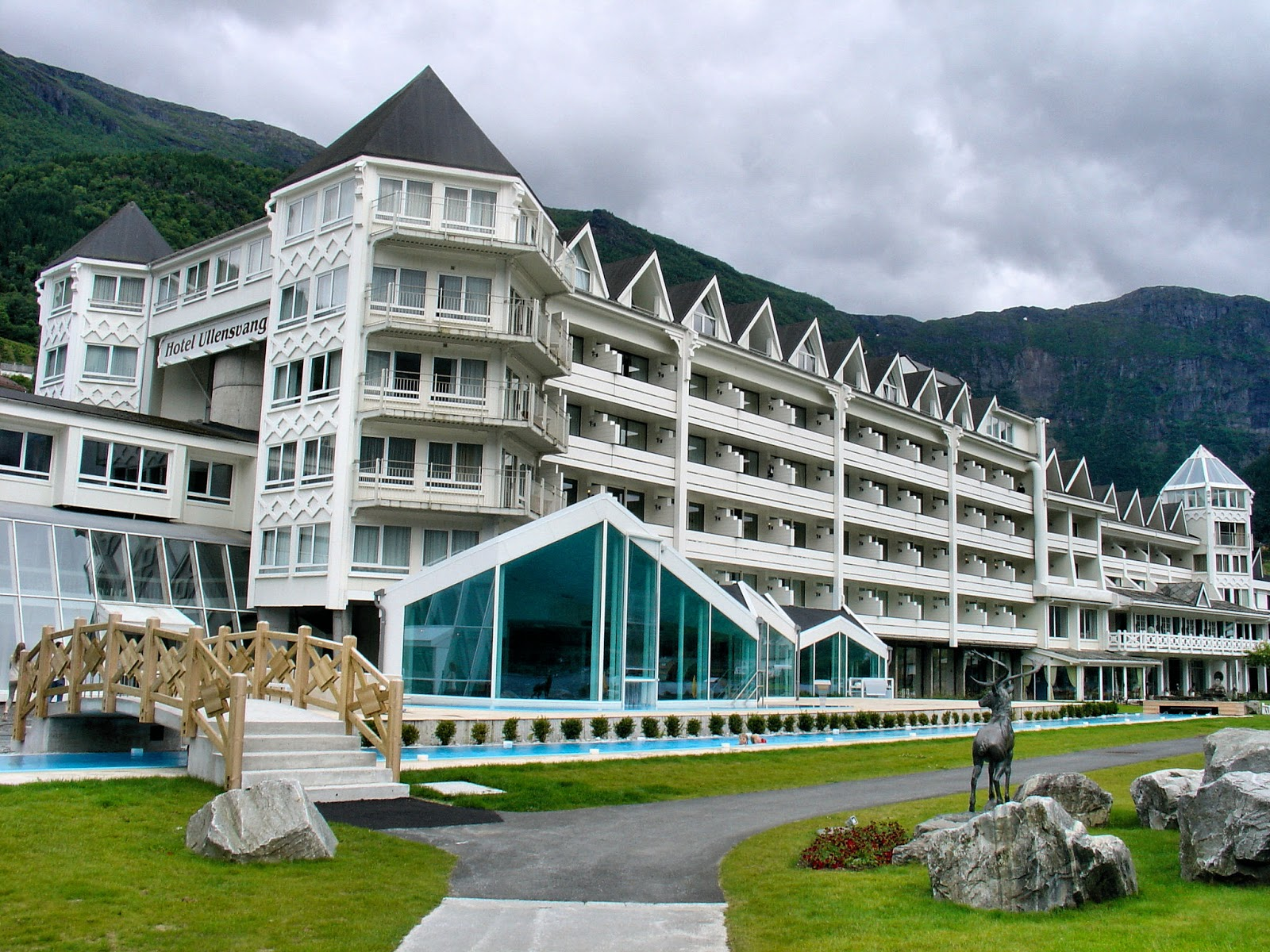 The spectacular Hotel Ullensvang in Lofthus, Norway, on the Hardgangerfjord.