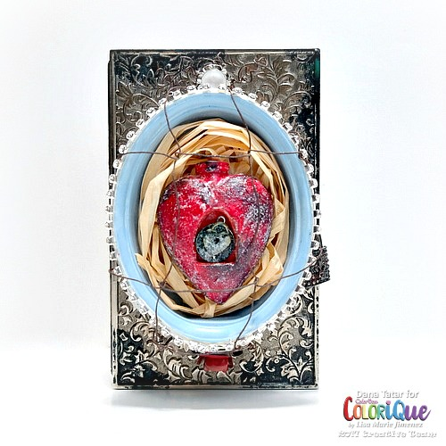Fractured Fairy Tale: Cinderella Singed Heart Shrine Box by Dana Tatar