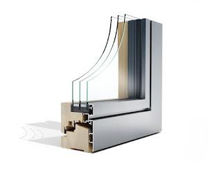 Lesena okna z aluminijasto oblogo po meri