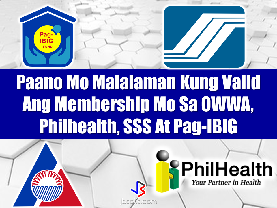 "As an Overseas Filipino Worker (OFW), there are government agencies that are designed to help us  in various ways. To ensure your welfare and protection, there is OWWA, Philhealth assures to help you of your family on health and medical needs, if you plan to buy a house or invest in savings, Pag-IBIG fund is readily available to assist you and for your retirement, the contributions made with the SSS could be a great help for you and your family. To avail of their services, the very first thing to do is to be a verified member. And how would you do it? We provided some tips here on how to easily determine whether your membership with these agencies are valid. ""Advertisements"" OWWA membership is valid for two years from the date of payment. So, to determine that your membership is still valid, check your OEC or your OWWA Balik Manggagawa Slip ang check the date. If the membership date is less than or not more than two years, your membership is still valid and you can avail the benefits.  Read: OWWA Offers Loan From P200K to P2M  P50K for OFWs who are undergoing treatment for dreaded illness.  What to do if the OFW spouse wants to start a small business with the help of OWWA?   To verify your Philhealth membership, like the OWWA membership, it has an expiration date. So the same step is applied. You can also go online for verification just log on to www.philhealth.gov.ph or you can visit the nearest regional office in your locality.  Read: How To Get a Philhealth ID  Beware of Fake Philhealth Receipts  Philhealth Zero-balance Billing  How to Register for Philhealth membership Online  How much can you save from Philhealth benefit packages?  To verify SSS membership, you can visit the nearest SSS Office in your area and go to the members assistance Center (MAC) or contact the SSS hotline (SSS Call Center) by calling 920-6446 to 55 for any SSS member's inquiry, support and assistance.  Read: SSS coverage program for OFWs  How Much money Can You Get From SSS Benefits?  Questions and answers regarding SSS programs for OFWs   Applying for SSS Disability Benefit  To verify your pag-ibig membership, you can visit any Pag-IBIG Office near you or go to www.pagibigfundservices.com  Read: How to check your Pag-IBIG contribution online  Member Urged to invest in the Pag-IBIG MP2 Investment Savings Program  Pag-IBIG Housing Loan  Pag-IBIG Balik-savings 65  ""Sponsored Links"" Read More:  A female Overseas Filipino Worker (OFW) working in Saudi Arabia was killed by an unknown gunman in Cabatuan, Isabela on Sunday. The OFW is in the country to enjoy her vacation and to celebrate her bithday with her loved ones. The victim's mother, Betty Ordonez, said that Jenny Constantino, 29, arrived in the country from Saudi Arabia for a vacation.         China's plans to hire Filipino household workers to their five major cities including Beijing and Shanghai, was reported at a local newspaper Philippine Star. it could be a big break for the household workers who are trying their luck in finding greener pastures by working overseas  China is offering up to P100,000  a month, or about HK$15,000. The existing minimum allowable wage for a foreign domestic helper in Hong Kong is  around HK$4,310 per month.  Dominador Say, undersecretary of the Department of Labor and Employment (DOLE), said that talks are underway with Chinese embassy officials on this possibility. China's five major cities, including Beijing, Shanghai and Xiamen will soon be the haven for Filipino domestic workers who are seeking higher income.  DOLE is expected to have further negotiations on the launch date with a delegation from China in September.   according to Usec Say, Chinese employers favor Filipino domestic workers for their English proficiency, which allows them to teach their employers' children.    Chinese embassy officials also mentioned that improving ties with the leadership of President Rodrigo Duterte has paved the way for the new policy to materialize.  There is presently a strict work visa system for foreign workers who want to enter mainland China. But according Usec. Say, China is serious about the proposal.   Philippine Labor Secretary Silvestre Bello said an estimated 200,000 Filipino domestic helpers are  presently working illegally in China. With a great demand for skilled domestic workers, Filipino OFWs would have an option to apply using legal processes on their desired higher salary for their sector. Source: ejinsight.com, PhilStar Read More:  The effectivity of the Nationwide Smoking Ban or  E.O. 26 (Providing for the Establishment of Smoke-free Environment in Public and Enclosed Places) started today, July 23, but only a few seems to be aware of it.  President Rodrigo Duterte signed the Executive Order 26 with the citizens health in mind. Presidential Spokesperson Ernesto Abella said the executive order is a milestone where the government prioritize public health protection.    The smoking ban includes smoking in places such as  schools, universities and colleges, playgrounds, restaurants and food preparation areas, basketball courts, stairwells, health centers, clinics, public and private hospitals, hotels, malls, elevators, taxis, buses, public utility jeepneys, ships, tricycles, trains, airplanes, and  gas stations which are prone to combustion. The Department of Health  urges all the establishments to post ""no smoking"" signs in compliance with the new executive order. They also appeal to the public to report any violation against the nationwide ban on smoking in public places.   Read More:          ©2017 THOUGHTSKOTO www.jbsolis.com SEARCH JBSOLIS, TYPE KEYWORDS and TITLE OF ARTICLE at the box below Smoking is only allowed in designated smoking areas to be provided by the owner of the establishment. Smoking in private vehicles parked in public areas is also prohibited. What Do You Need To know About The Nationwide Smoking Ban Violators will be fined P500 to P10,000, depending on their number of offenses, while owners of establishments caught violating the EO will face a fine of P5,000 or imprisonment of not more than 30 days. The Department of Health  urges all the establishments to post ""no smoking"" signs in compliance with the new executive order. They also appeal to the public to report any violation against the nationwide ban on smoking in public places.          ©2017 THOUGHTSKOTO Dominador Say, undersecretary of the Department of Labor and Employment (DOLE), said that talks are underway with Chinese embassy officials on this possibility. China's five major cities, including Beijing, Shanghai and Xiamen will soon be the destination for Filipino domestic workers who are seeking higher income. ©2017 THOUGHTSKOTO"