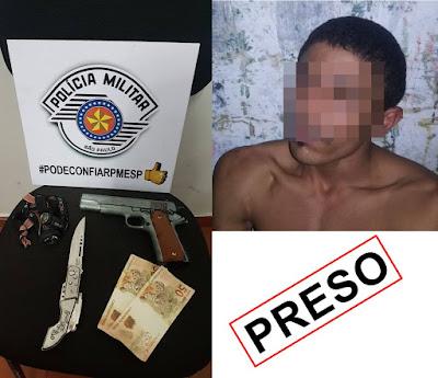 POLÍCIA MILITAR PRENDE CRIMINOSO QUE ROUBOU FARMÁCIA EM CANANÉIA