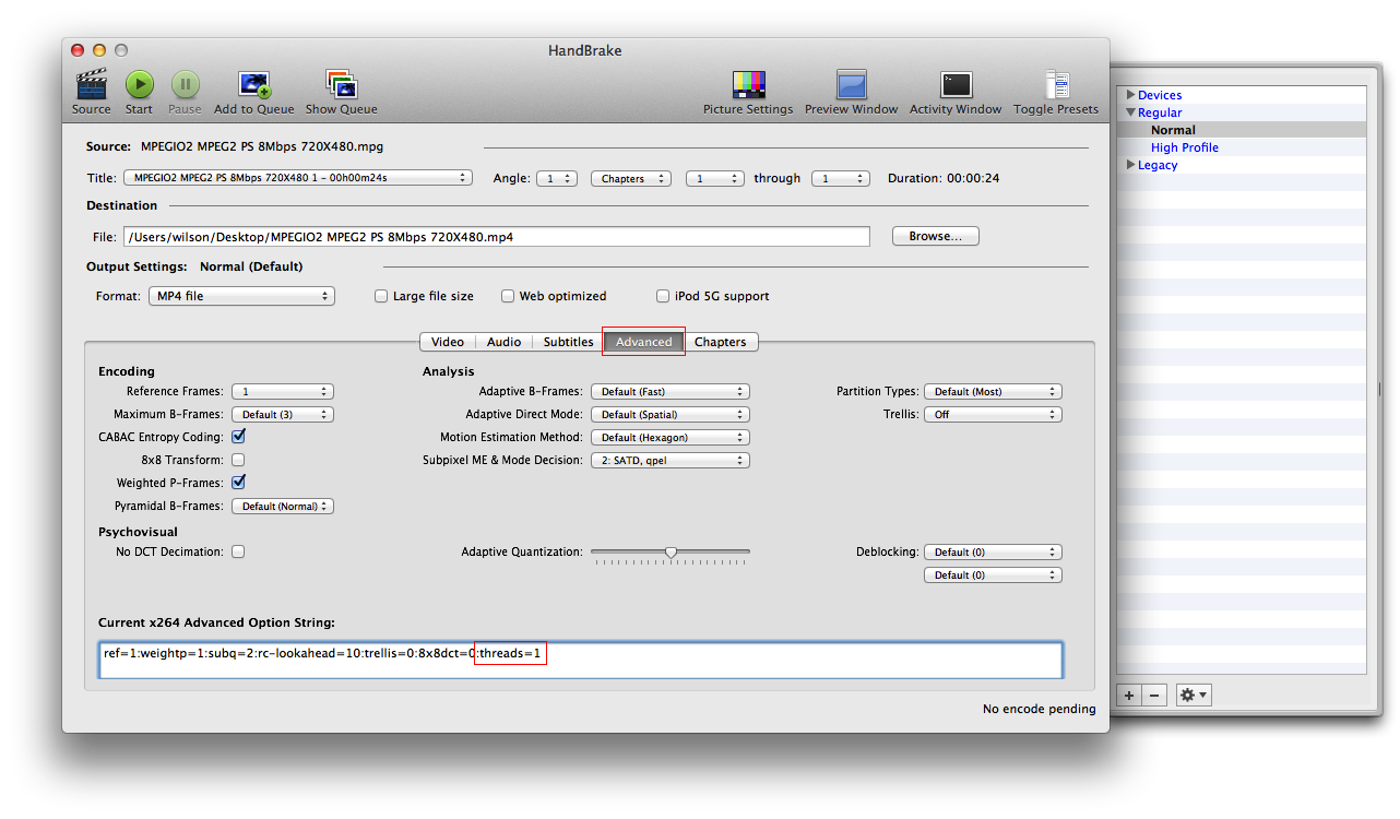 My Tech Notes: Handbrake for Mac: How to limit the CPU usage