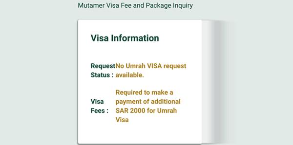 status jamaah umroh yang terkena fee visa progresif
