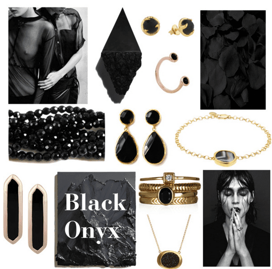 Black Onyx Gemstone Jewellery Edit Rings Bracelet