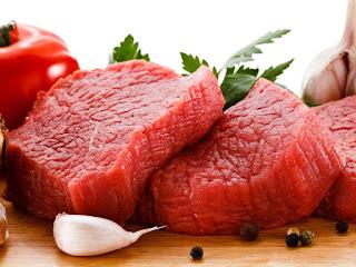 Carne Vermelha muito ricos em ferro.