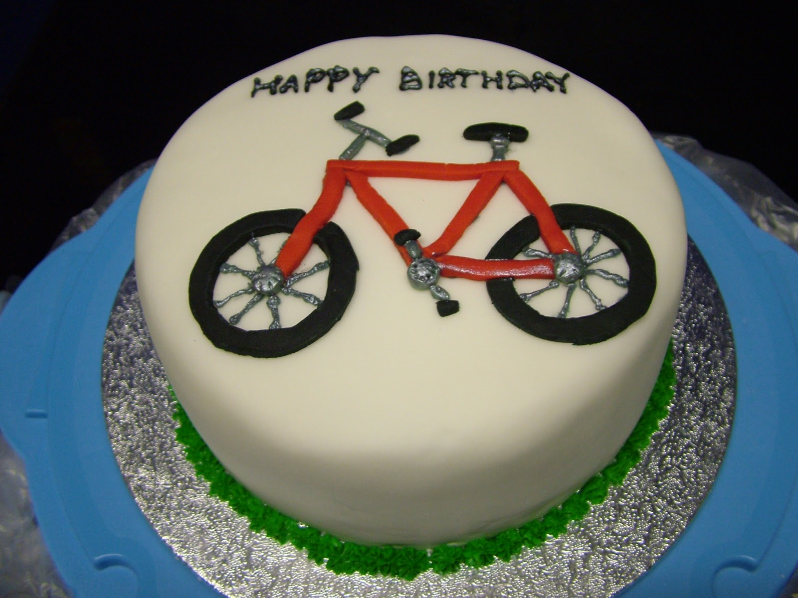 Chocolate Bicycle Birthday Cake