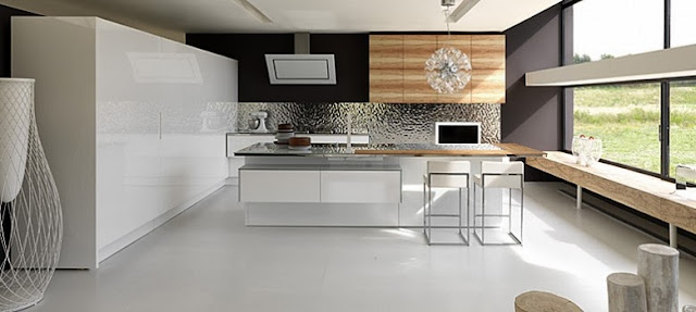 Cuisine avec lot - Cuisine design rouge et blanc ...