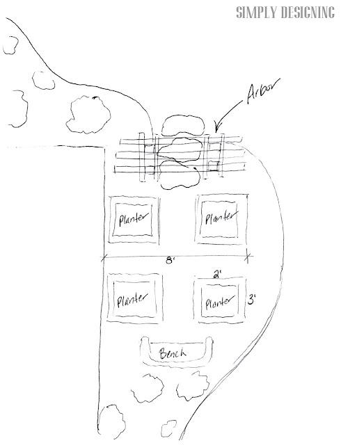 garden sketch DIY Flower Tower {Part 4} #DigIn #HeartOutdoors #Spring #sponsored 9