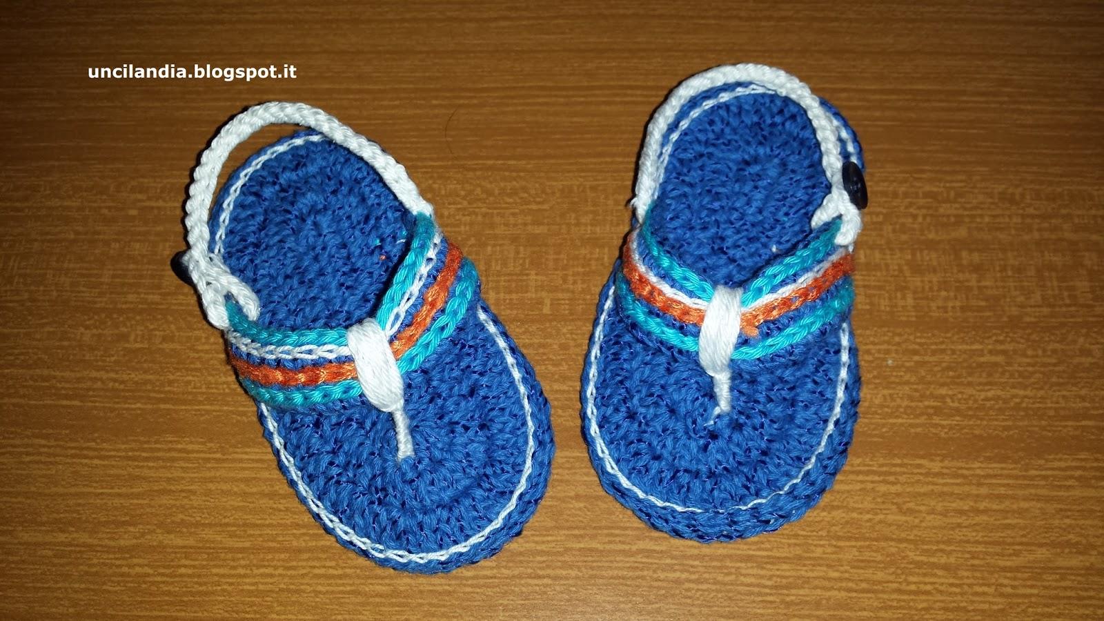 Uncilandia Infradito Alluncinetto Per Neonatocrocheted Baby