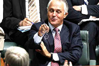 Malcolm Turnbull laughing