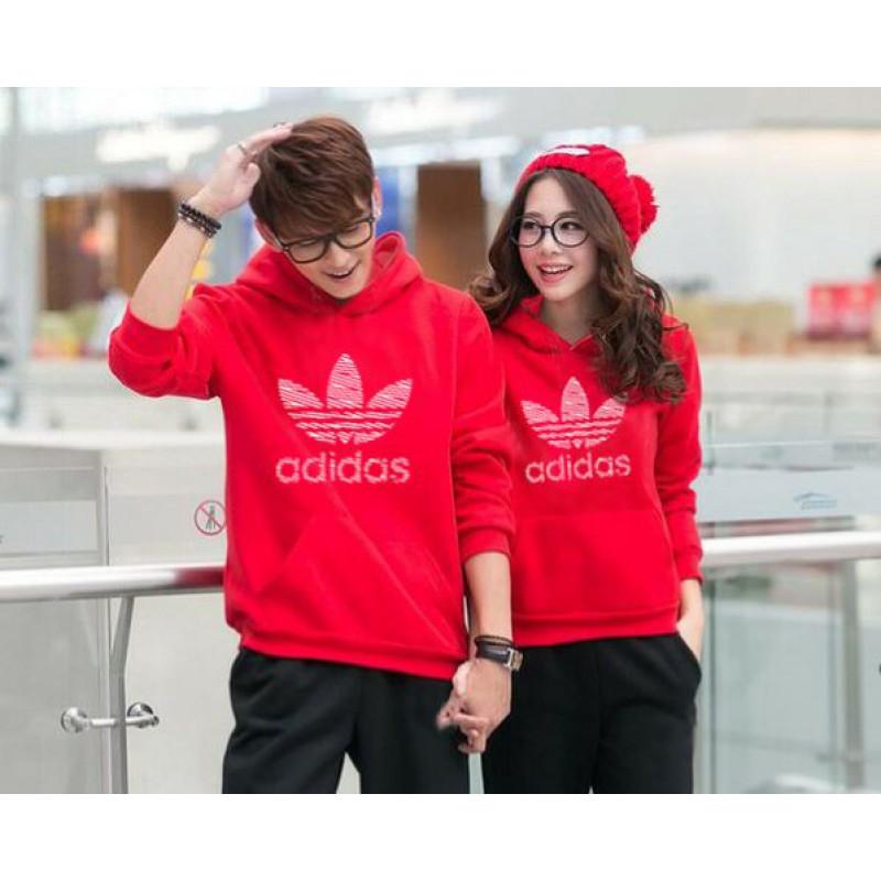 Jual Online Jumper Adidas Red Couple Murah di Bandung Bahan Babytery Terbaru