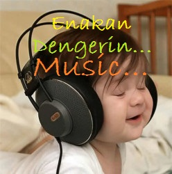 gambar dp bbm musik enakan dengerin musik
