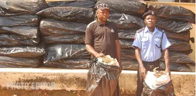fake policeman caught smuggling cannabis