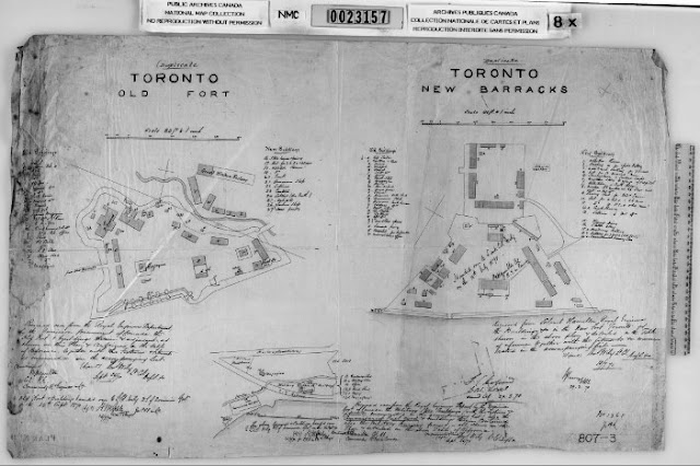 1870 Wily: Toronto Old Fort/Toronto New Barracks - New