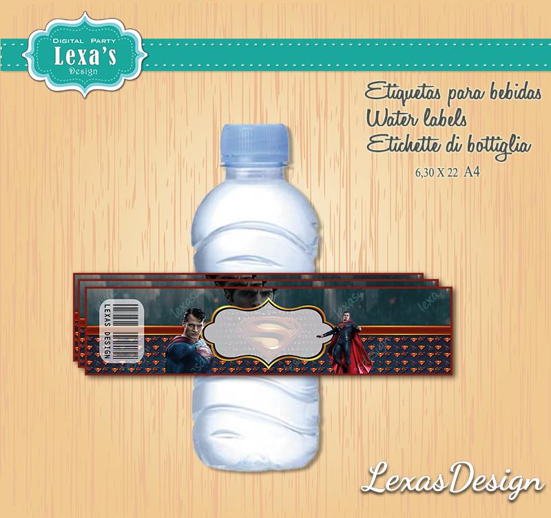 Etiquetas Jugo, Agua gratis Superman / Man of Steel