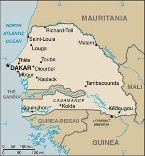 Peta Negara Guinea Bissau