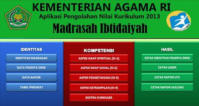 Download Aplikasi Rapor Madrasah Ibtidaiyah (MI) Kurikulum 2013 Terbaru 2017