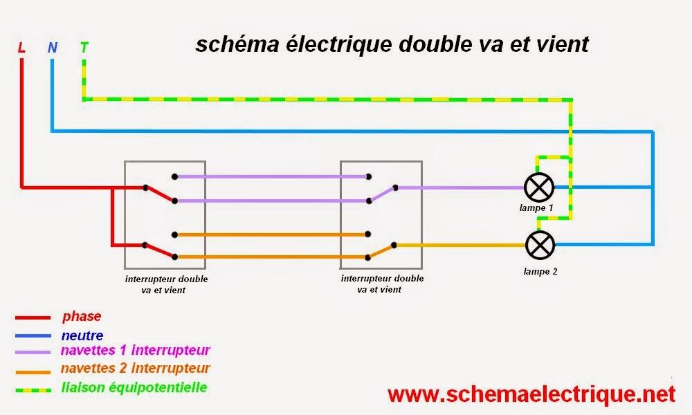 schema electrique interrupteur double allumage tq69. Black Bedroom Furniture Sets. Home Design Ideas