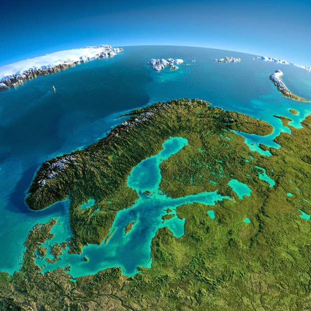Scandinavia - Fascinating Relief Maps Show The World's Mountain Ranges