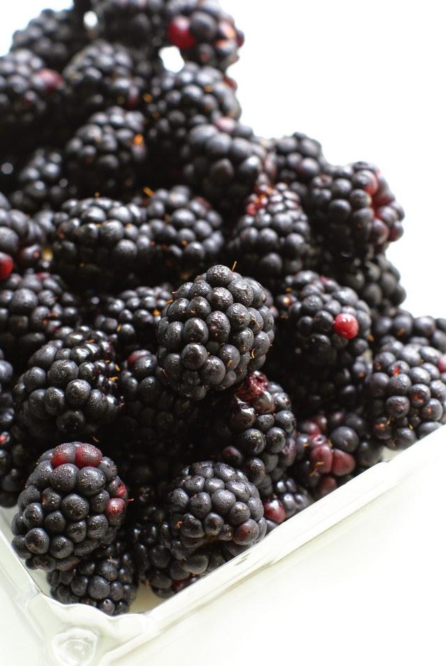 Fresh  blackberries for parfaits!