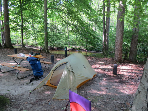 Hoffmaster State Park campsite