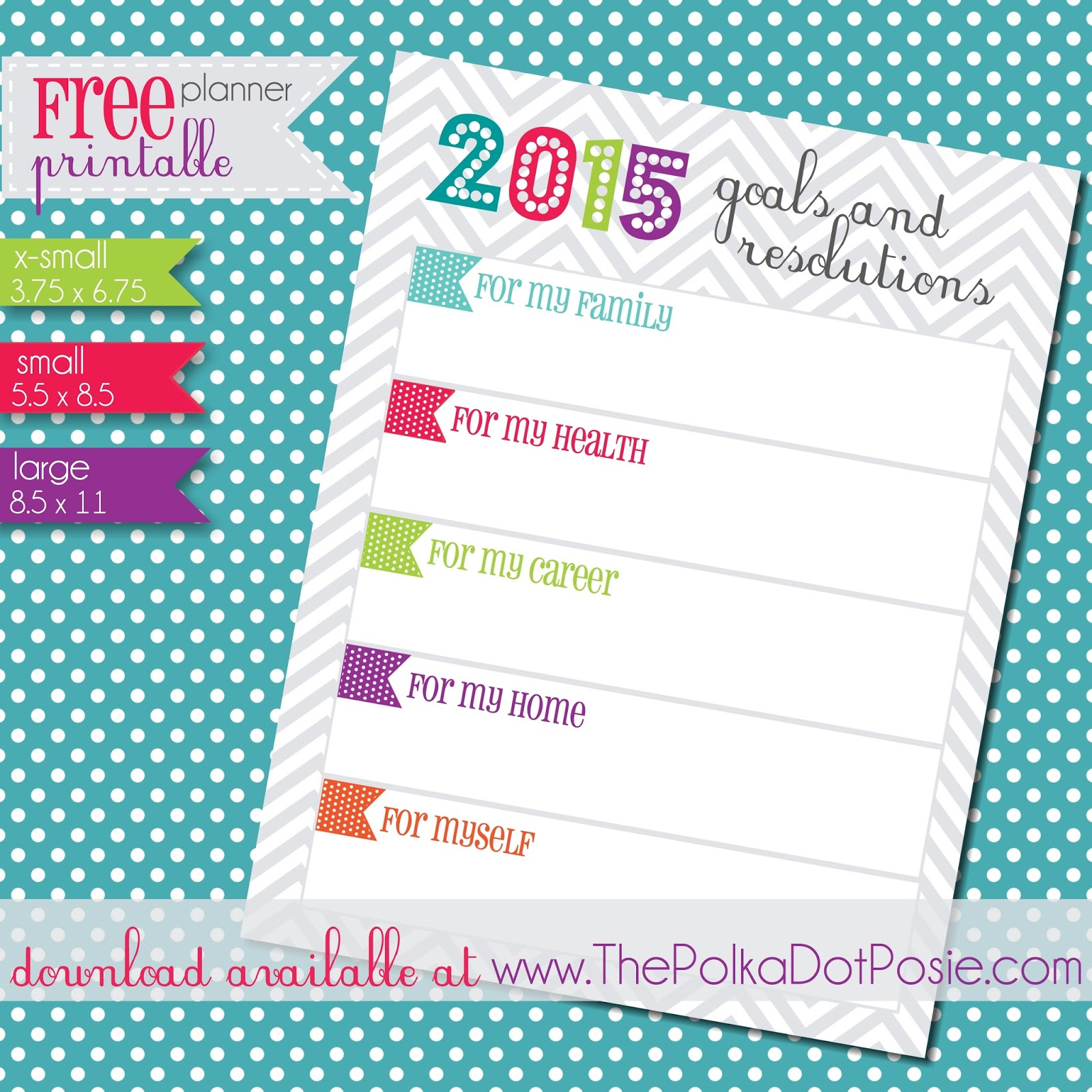 The Polka Dot Posie Goals Amp Resolutions Our New Shop Goal Amp A Free Printable To Start The