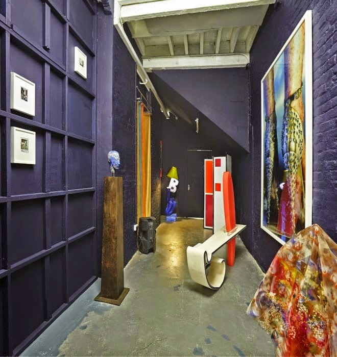 Installation view of Backstage at The Violet Crab at DRAF, 2015.  Photo: Matthew Booth