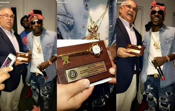 Shatta Wale Honoured With Key To City Of Worcester In US