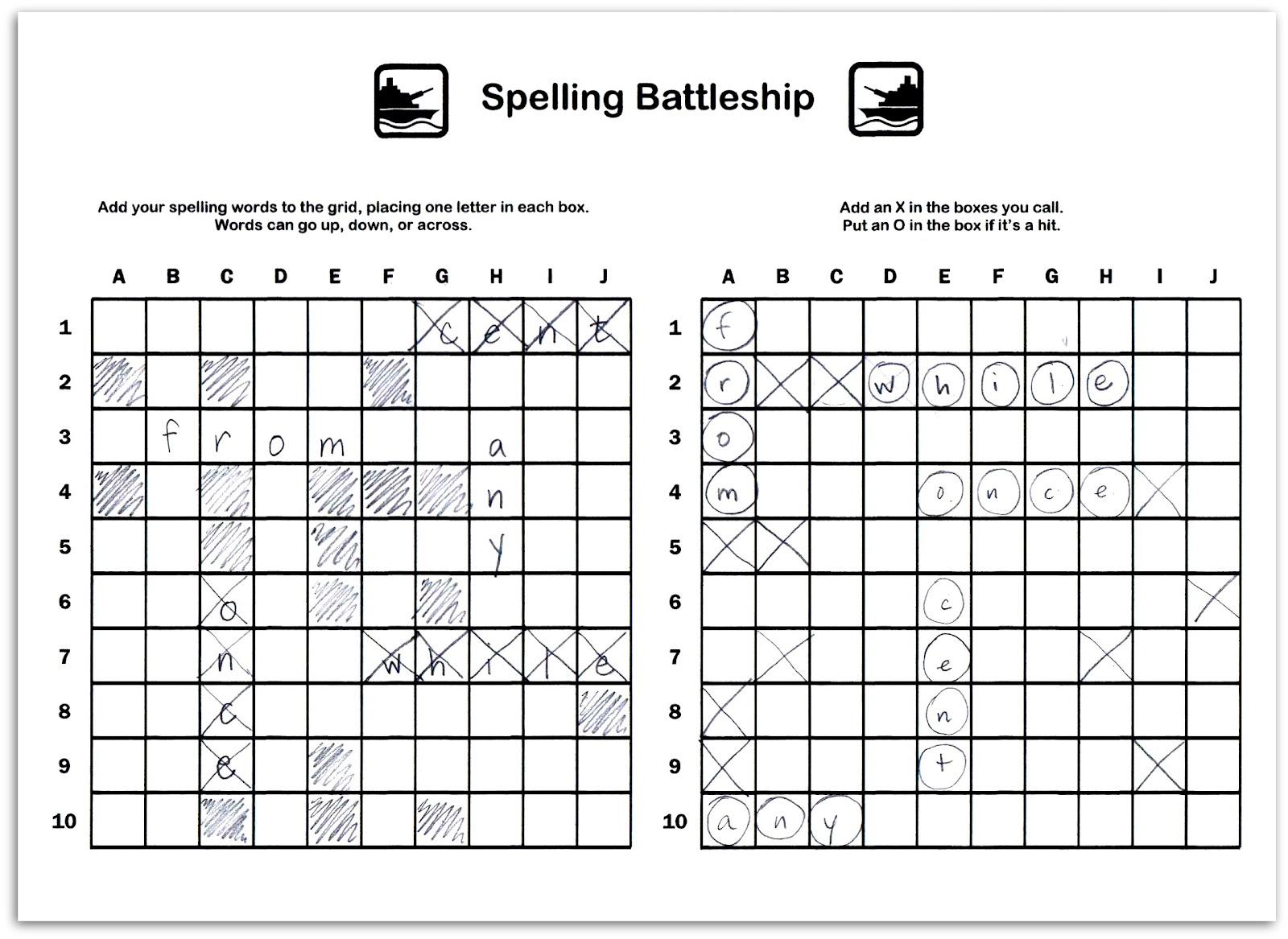 Relentlessly Fun Deceptively Educational Spelling Battleship
