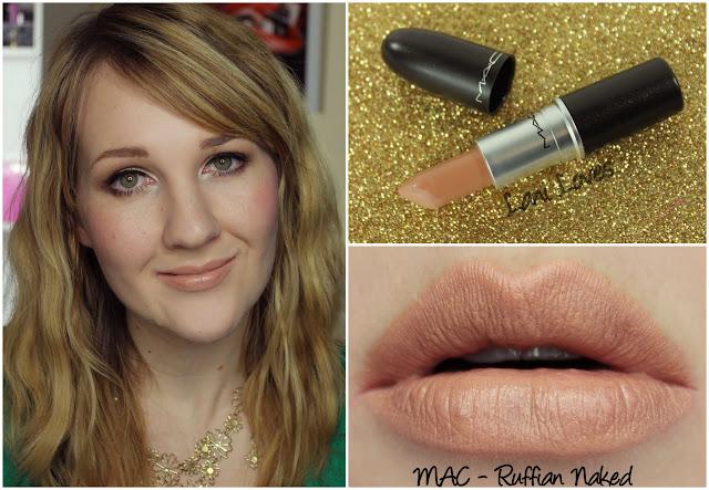 MAC Ruffian Naked lipstick swatch