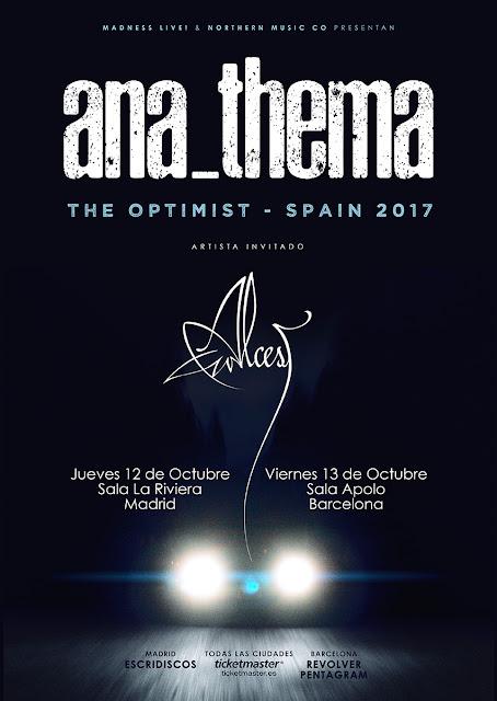 Anathema y Alcest en España