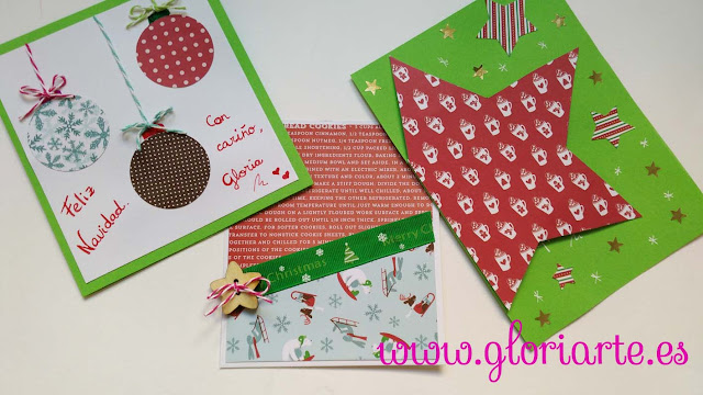 tarjetas de navidad DIY de papel