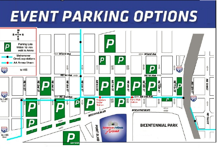 Miami Heat Parking At American Airlines Arena Parkadvice Com