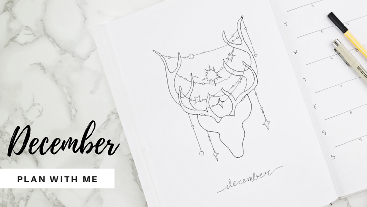 December Bullet Journal Setup