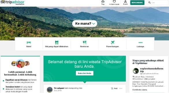 website terbaik untuk traveling - TripAdvisor