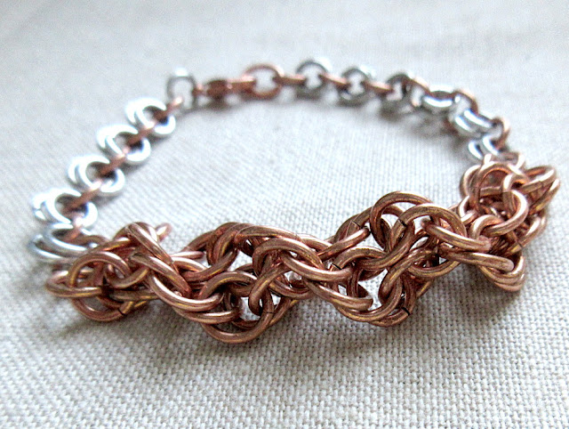 DNA sciart chainmaille biologist bracelet biology jewelry