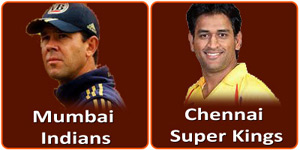 MI Vs CSK is on 5 May 2013