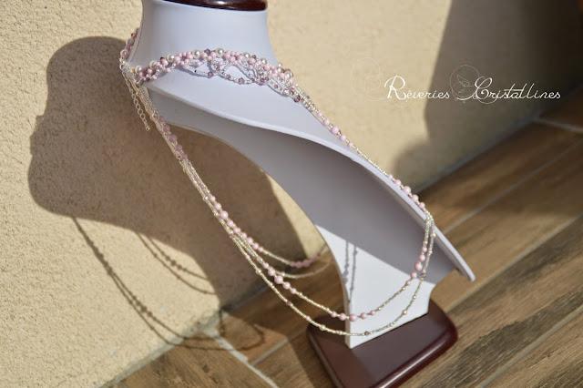 collier mariage romantique glamour de princesse