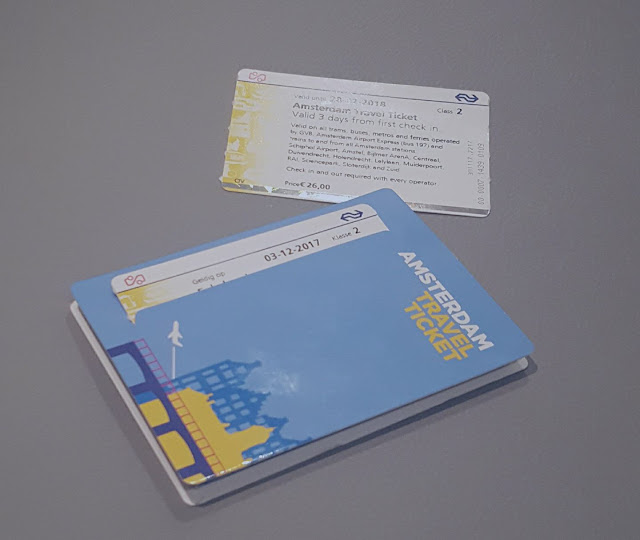 blue 3 days amesterdam travel ticket and map