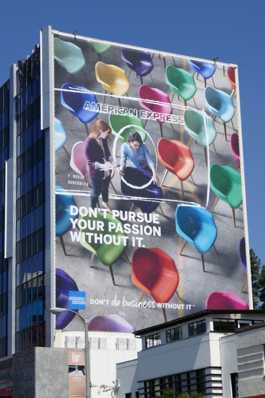 American Express Dont pursue passion without it billboard