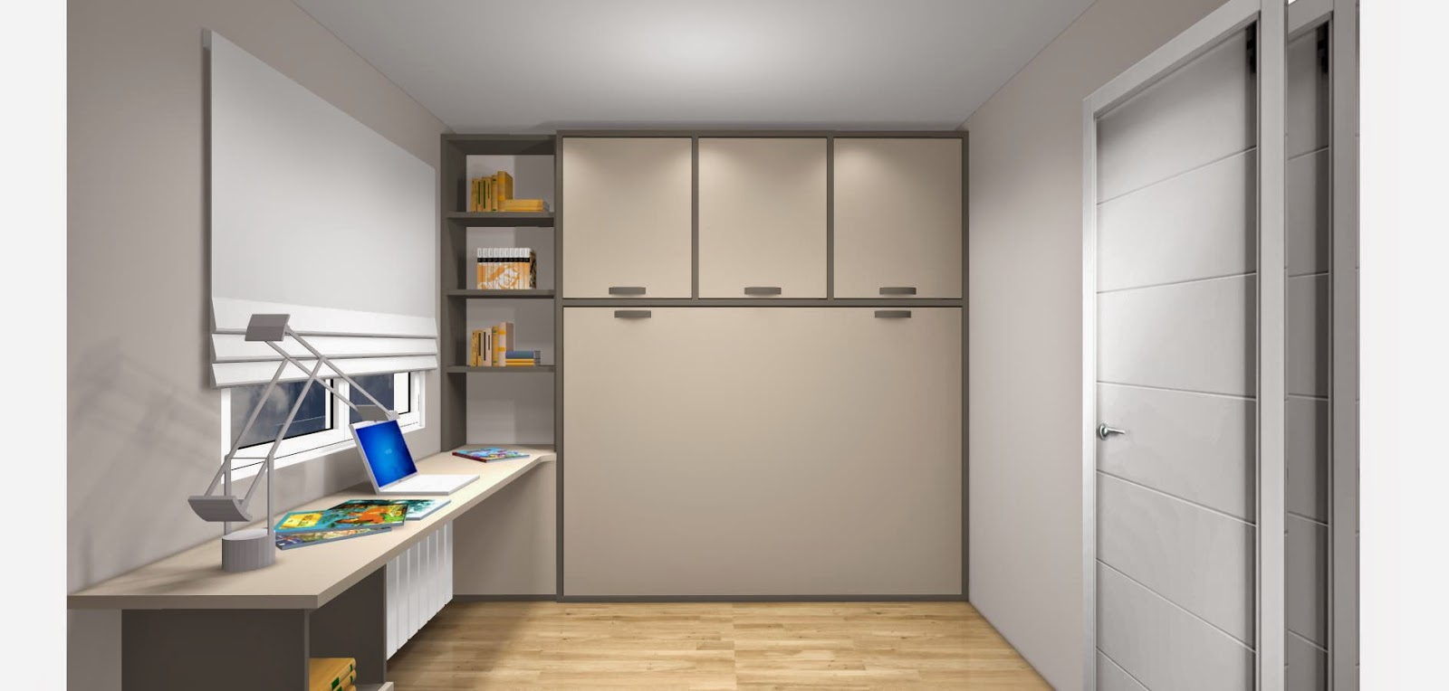 Dise o de cuartos o dormitorios juveniles - Habitaciones camas abatibles ...