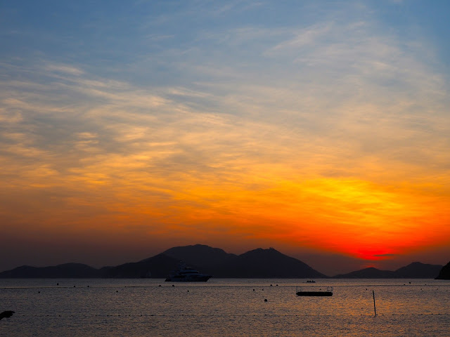 Repulse Bay beach sunset, Hong Kong