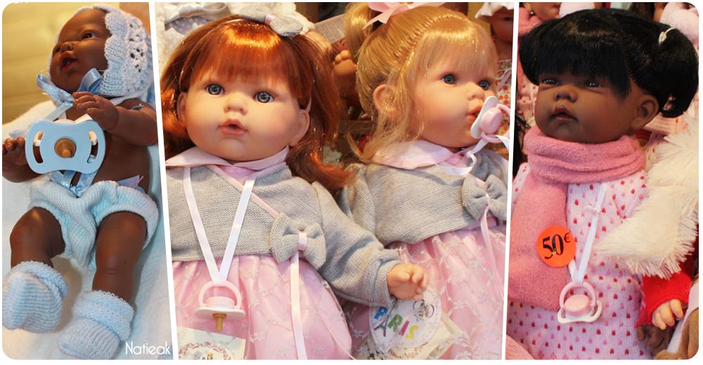 Les poupées  Nines d'Onil  et Arias au marché de Noël des Champs -Elysées