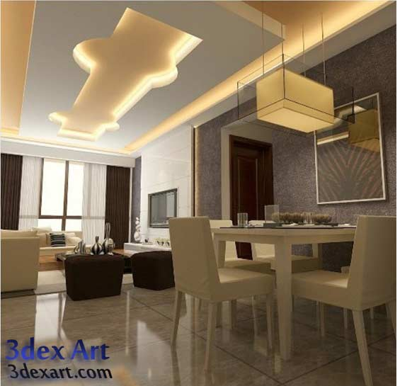 3d Fall Ceiling Wallpaper Latest False Ceiling Designs For Living Room And Hall 2019
