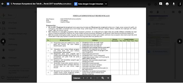 Pemetaan KI dan KD IPA SMP Kelas 8 Kurikulum 2013 Revisi 2017