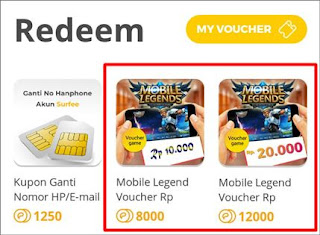 Diamond Gratis Mobile Legends dari Surfee - 5