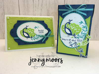 stamping moments stampin' up beautiful peacock sale a