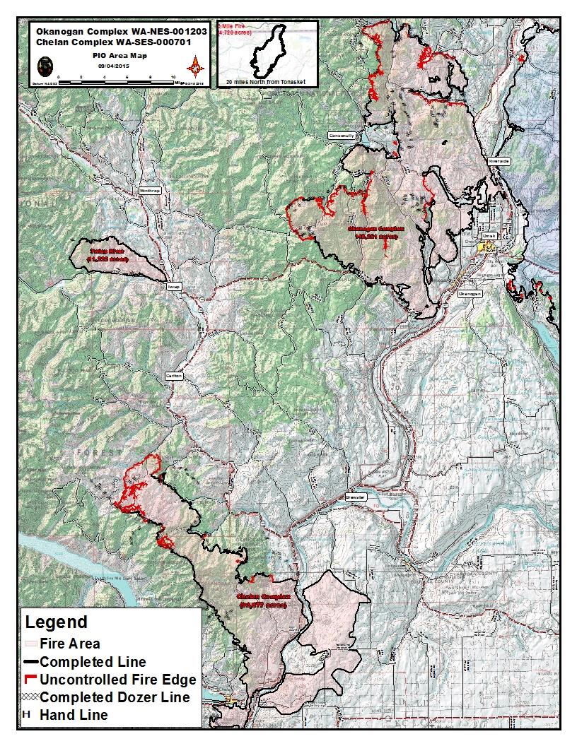 Tonasket Fire Map.Okanogan Complex Fire Information Fire Maps